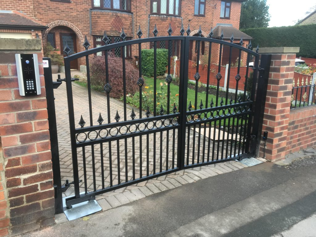 Automated wrought iron gate installation in Wakefield