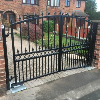 Automated Wrought iron gates in Wakefield