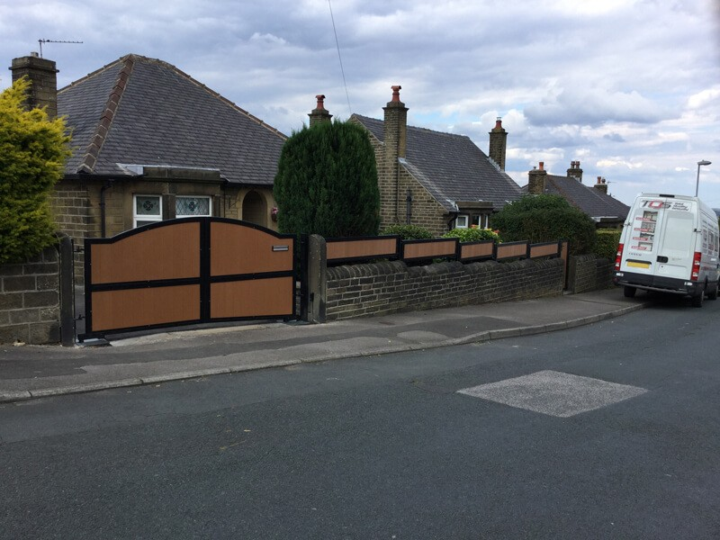 Composite board gate installation
